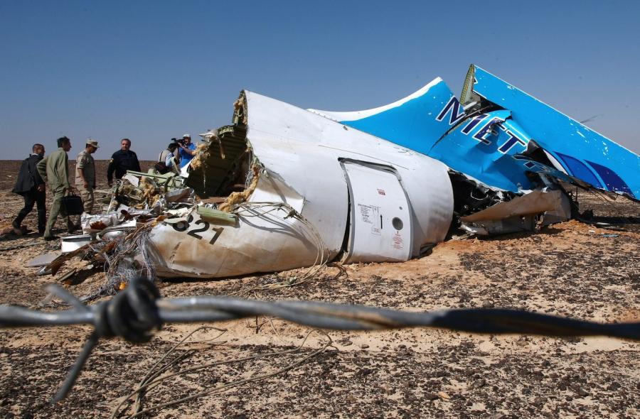 Szczątki rosyjskiego samolotu