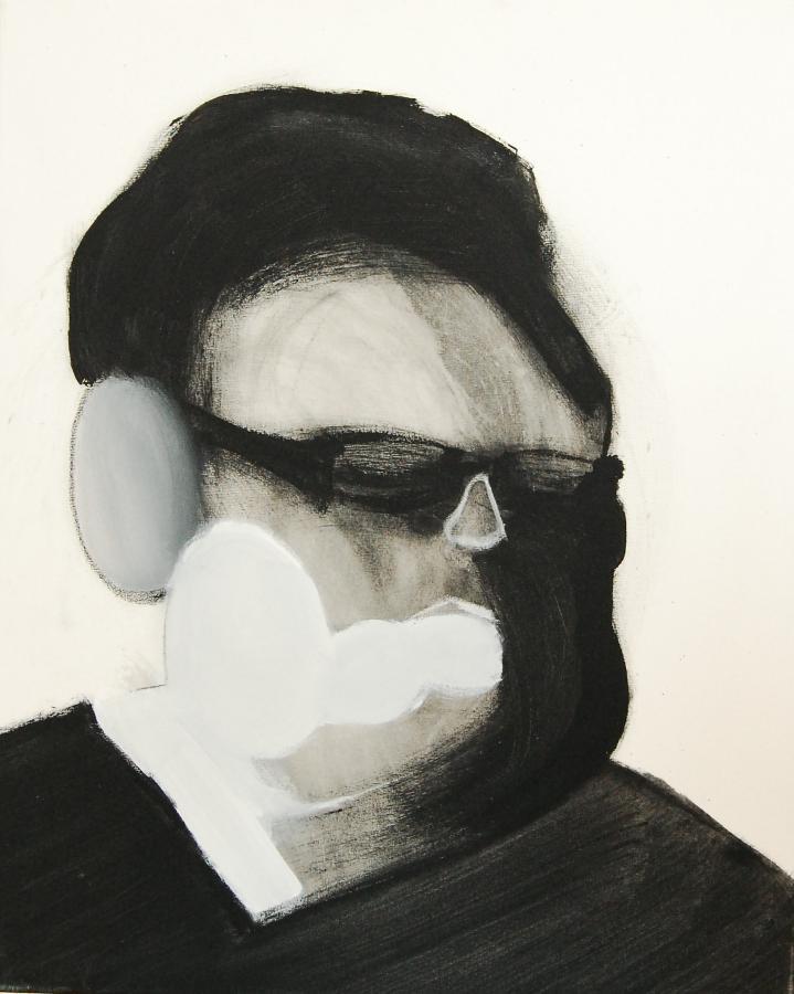"""""""Szkice do portretu 9"""", Cezary Bednarczyk, olej na płótnie, 50x40 cm"""