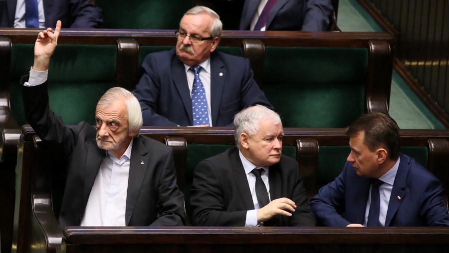 Ryszard Terlecki, Jarosław Kaczyński, Mariusz Błaszczak, Leonard Krasulski
