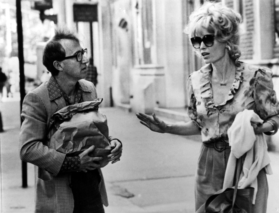 "Mia Farrow i Woody Allen w filmie ""Danny Rose z Broadwayu"""