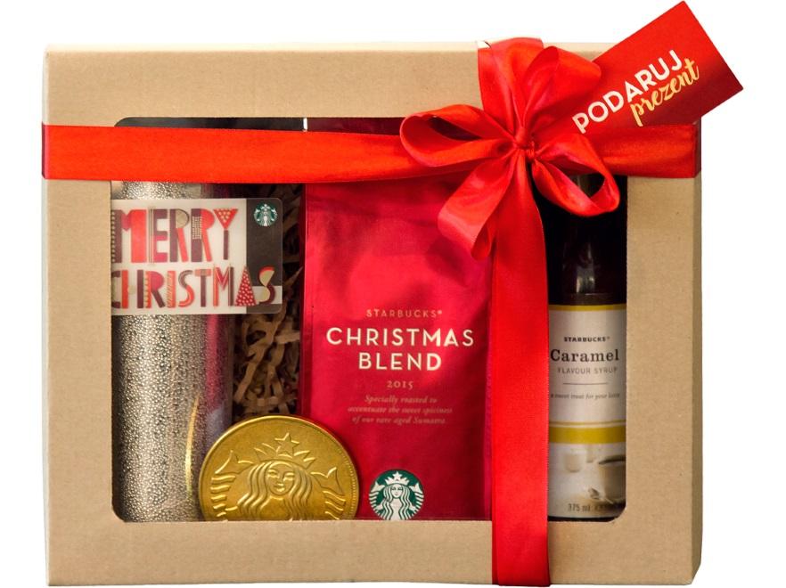 Zestaw świąteczny z kubkiem termicznym Starbucks