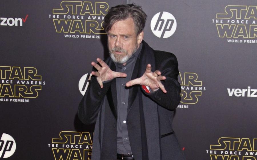 """Mark Hamill na premierze """"Gwiezdnych wojen: Przebudzenia Mocy"""""""