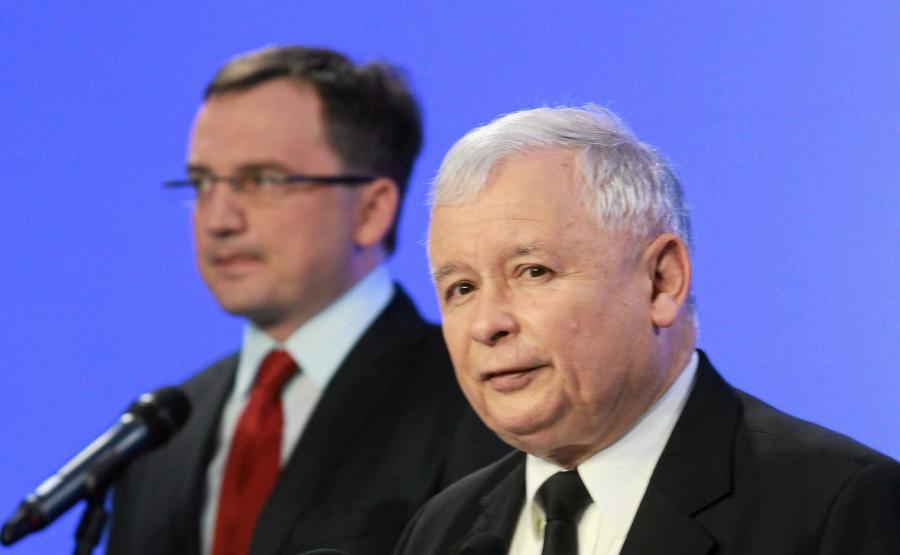 Minister sprawiedliwości Zbigniew Ziobro i prezes PiS Jarosław Kaczyński