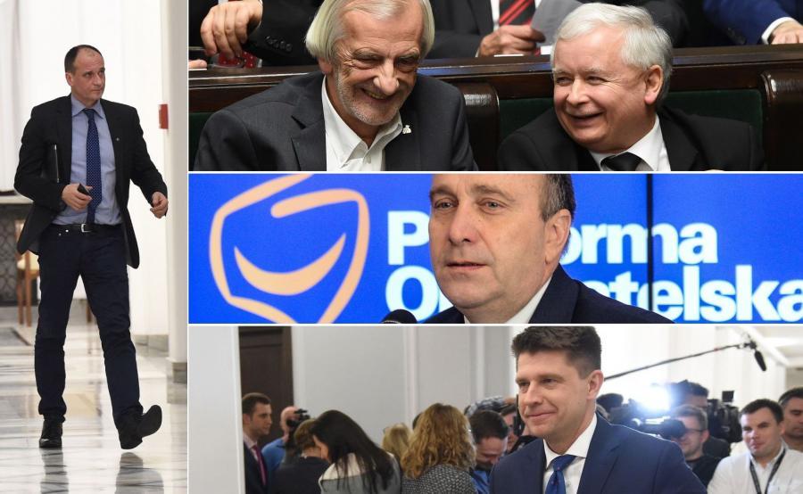 Paweł Kukiz, Ryszard Terlecki, Jarosław Kaczyński, Grzegorz Schetyna, Ryszard Petru