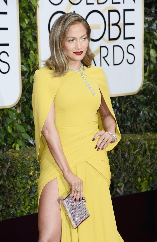 Jennifer Lopez królową czerwonego dywanu na Złotych Globach