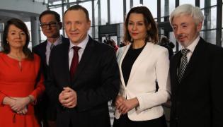 Danuta Holecka, Przemyslaw Babiarz, prezes Jacek Kurski, Anna Popek, Maciej Stanecki
