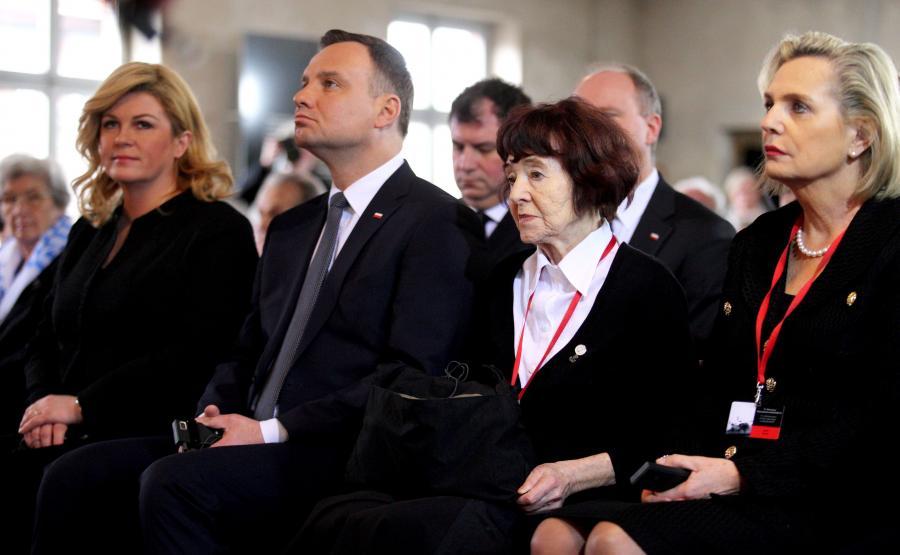 Prezydent Andrzej Duda i Zofia Pilecka
