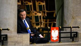 Prezydent Andrzej Duda podczas posiedzenia Sejmu