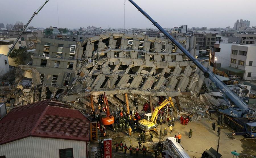 Akcja ratownicza na Tajwanie