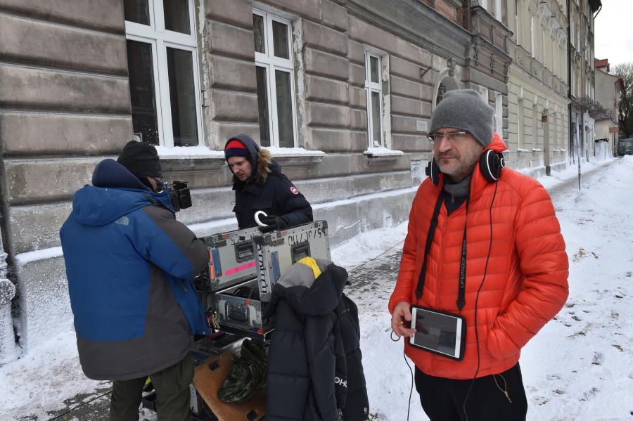 """Jan Hryniak na planie filmu """"Nigdy tu już nie powrócę"""""""