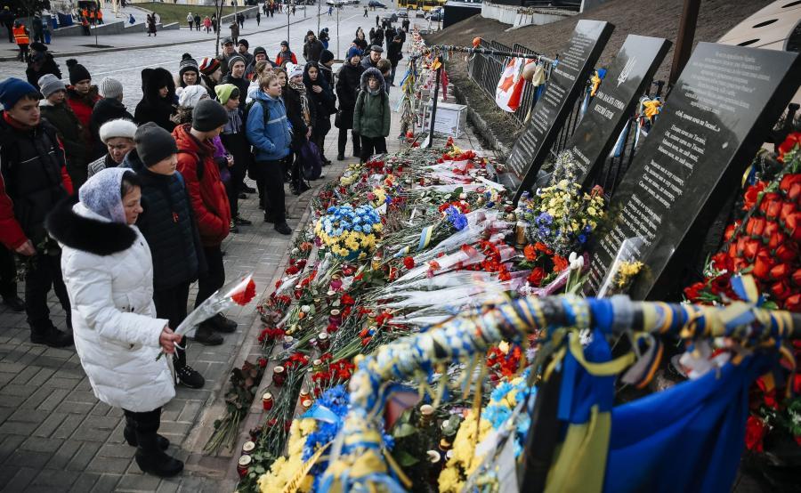 Ukraińcy obchodzą drugą roczniczę Majdanu