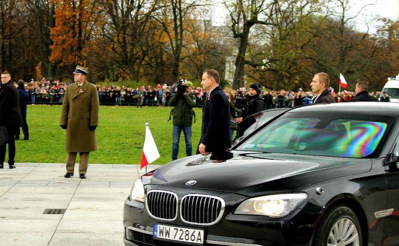 Prezydent Andrzej Duda i BMW 760Li High Security