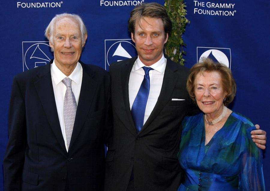 Sir George Martin, jego syn Giles Martin i żona Judy Lockhart-Smith