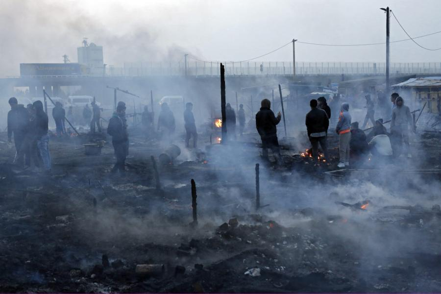 Likwidowany obóz imigrantów pod Calais