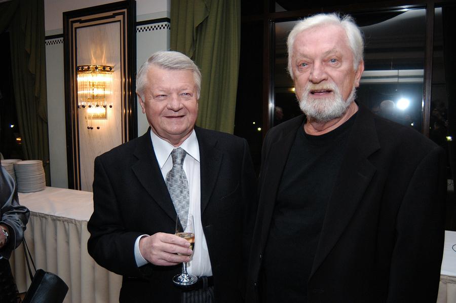 Marian Kociniak i jego stryjeczny brat, również aktor Jan Kociniak w 2006 roku