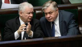 Prezes PiS Jarosław Kaczyński i minister rolnictwa Krzysztof Jurgiel