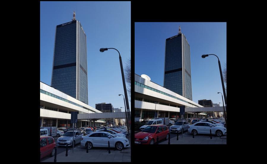 Po lewej zdjęcie zrobione aparatem w telefonie Samsung Galaxy S6, po prawej - S7