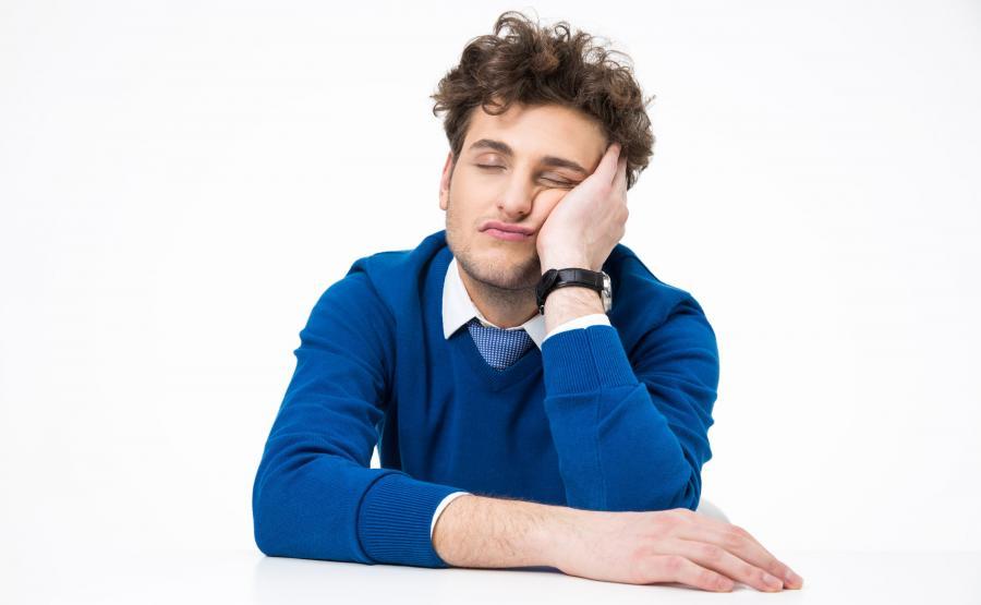 Zmęczony mężczyzna