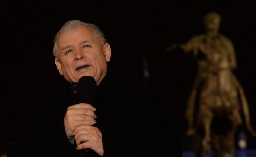 Jarosław Kaczyński podczas miesięcznicy katastrofy smoleńskiej