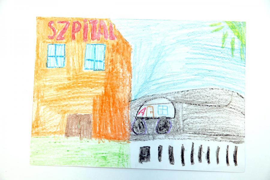 Autor rysunku: Wiktoria Falkowska, lat 8