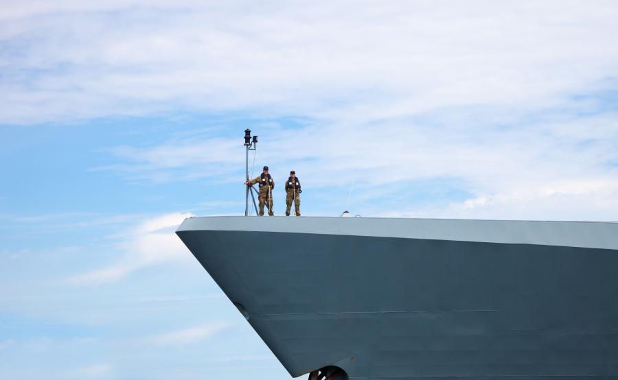 Żołnierze Duńskiej Marynarki Wojennej w Gdyni, w czasie manewrów Baltops 2015