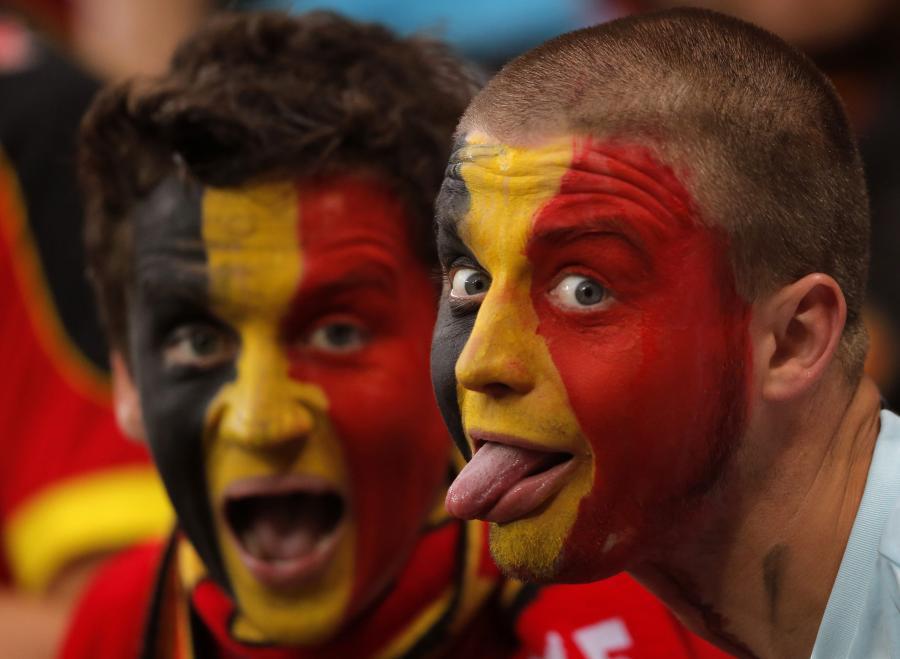 """Kibice reprezentacji Belgii naprawdę mają """"diabelską"""" fantazję"""