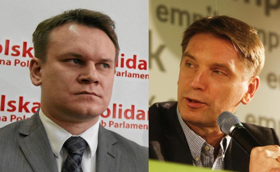 Dominik Tarczyński i Tomasz Lis