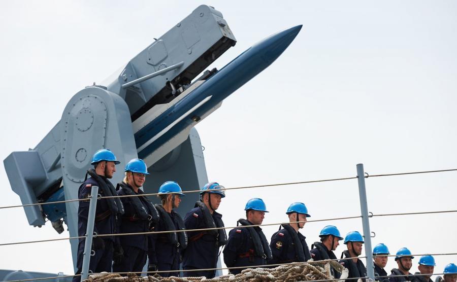 Wyrzutnia rakiet na ORP \