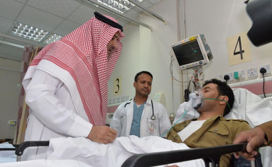 Król Salman ibn Abd al-Aziz odwiedził rannych w szpitalu