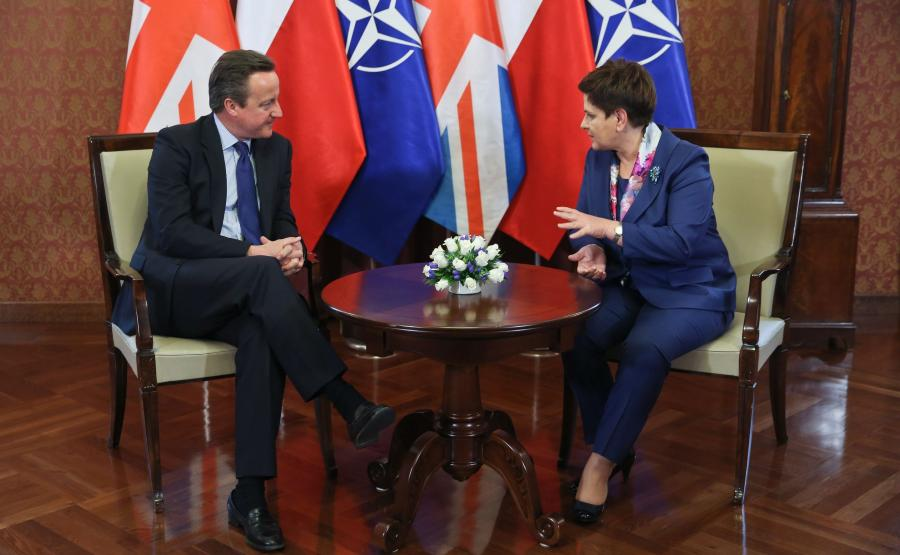 Beata Szydło i David Cameron