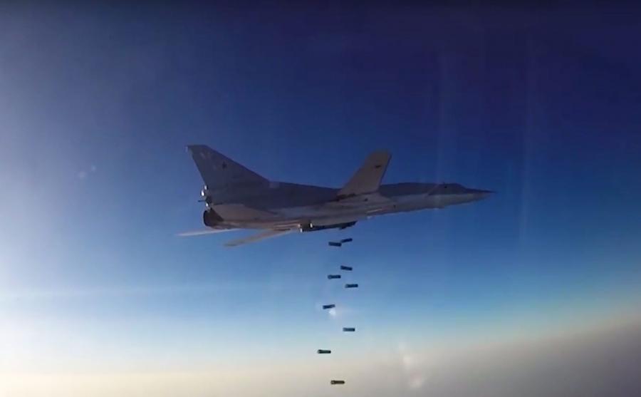 Rosyjski bombowiec nad Syrią