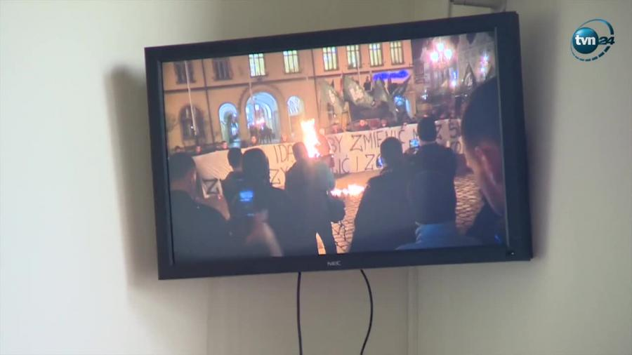 Oskarżony o spalenie kukły Żyda stanął przed sądem