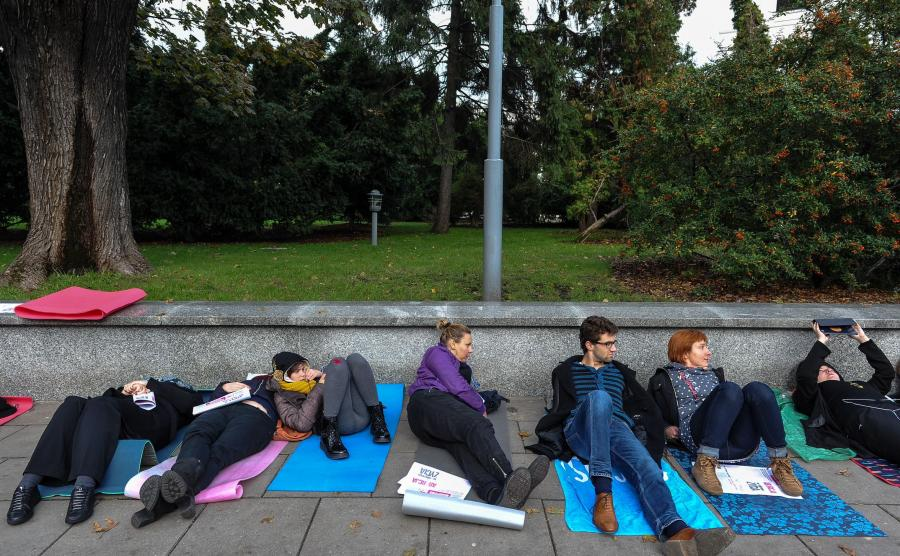 Nietypowy protest przed Sejmem