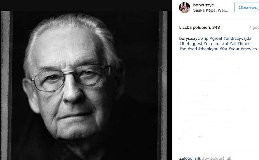 Borys Szyc żegna Andrzeja Wajdę