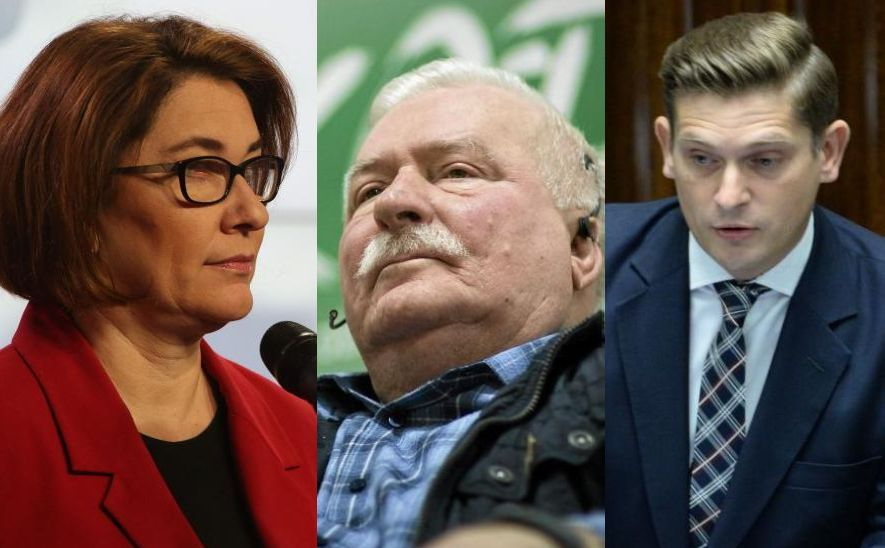 Beata Mazurek, Lech Wałęsa i Bartosz Kownacki