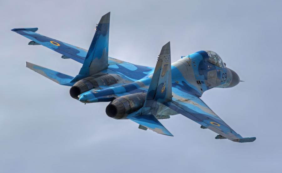 Ukraiński myśliwiec Su-27UB
