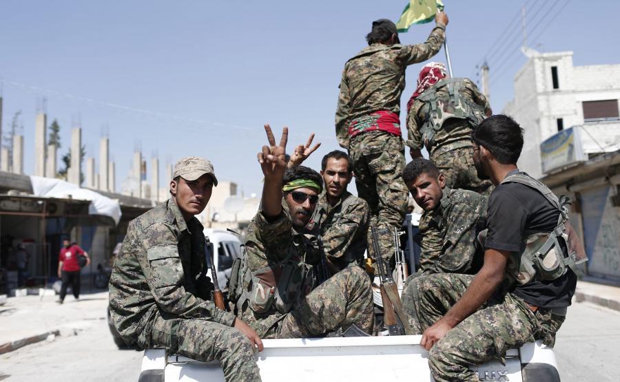 Kurdyjscy bojownicy w Syrii
