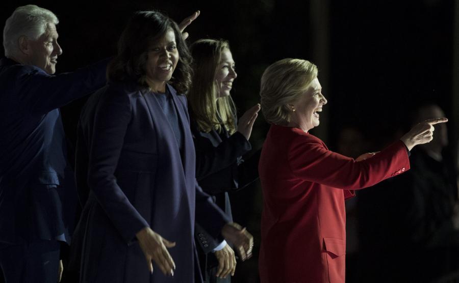 Hillary Clinton, Bill Clinton, Michelle Obama i Chelsea Clinton