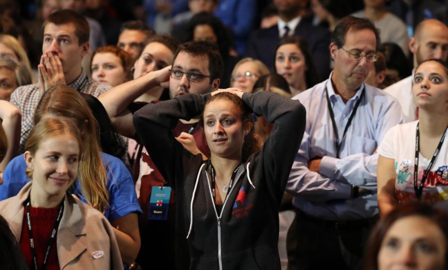 Sztab zwolenników Hillary Clinton w Nowym Jorku