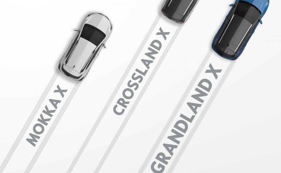 Opel atakuje crossoverami. Do wyboru będzie mokka X i dwaj nowicjusze crossland X oraz grandland X