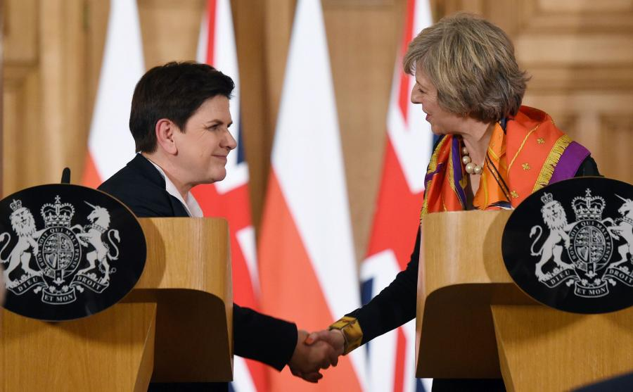 Beata Szydło i Theresa May