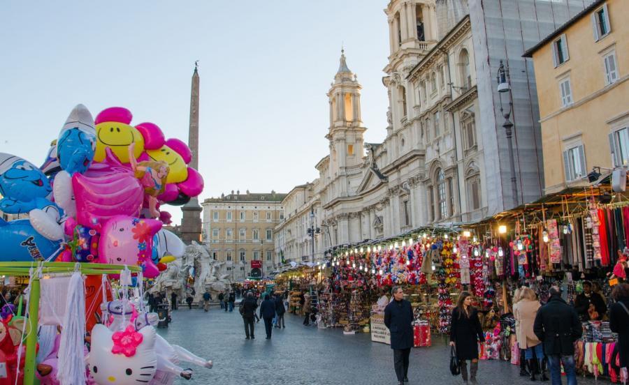 Jarmark świąteczny w Rzymie