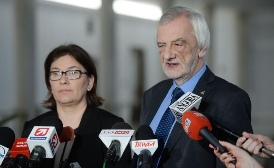Wicemarszałek Sejmu Ryszard Terlecki i rzecznik PiS Beata Mazurek