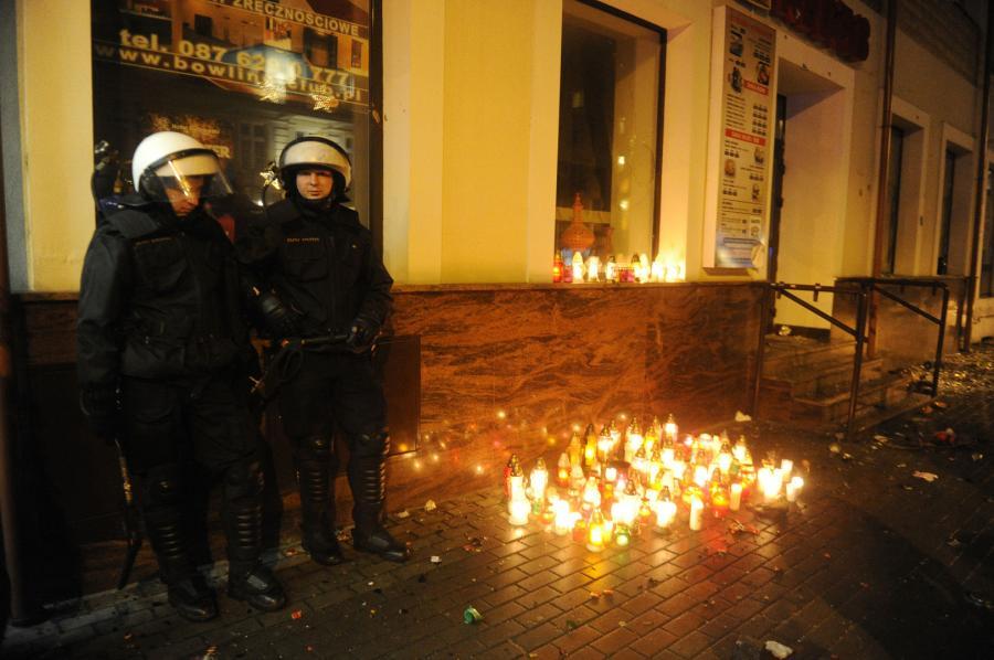 Zamieszki w Ełku