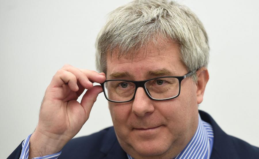 Na zdjęciu archiwalnym z 23.02.2015 r. europeseł PiS Ryszard Czarnecki