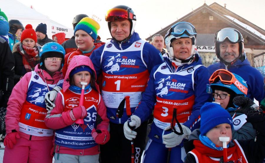 Andrzej Duda wziął udział w maratonie narciarskim