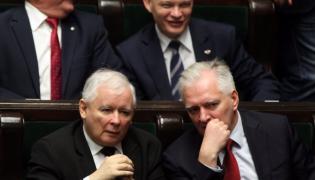 Jarosław Kaczyński i Jarosław Gowin w Sejmie