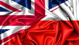 Flagi Wielkiej Brytanii i Polski