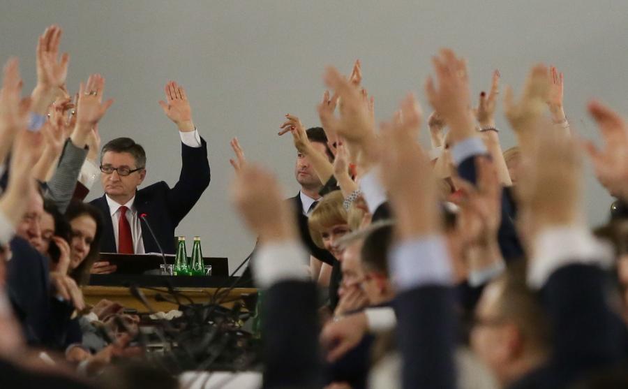 16 grudnia 2017 roku. Głosowanie w Sali Kolumnowej w Sejmie