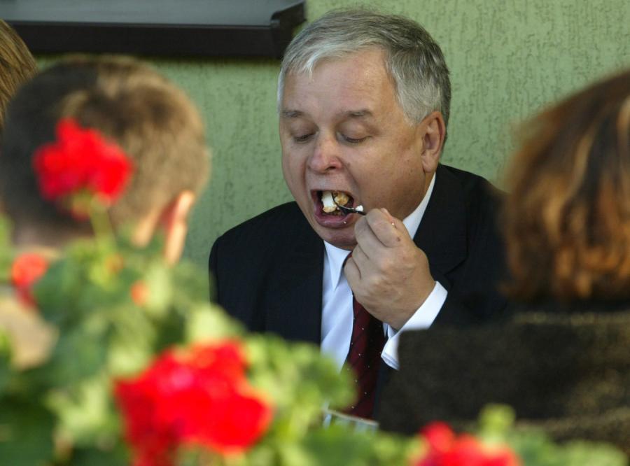 Lech Kaczyński nie zapłacił za kolację
